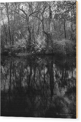 Wood Print featuring the photograph River Bank Palmetto by Marvin Spates