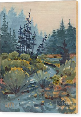 River Bend Wood Print by Donald Maier