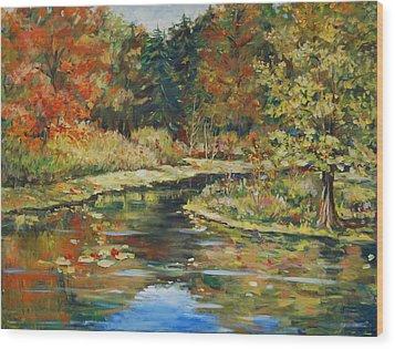 River Bend Wood Print