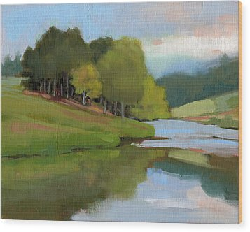 River Bend Study Wood Print by Todd Baxter
