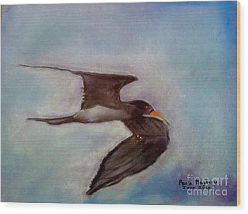 River Bird Wood Print
