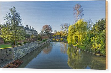River Cam Wood Print