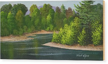 Wood Print featuring the painting River Confluence by Frank Wilson