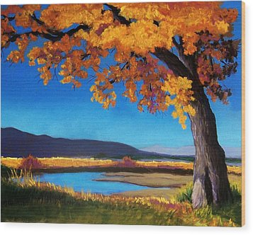 River Cottonwood Wood Print by Candy Mayer