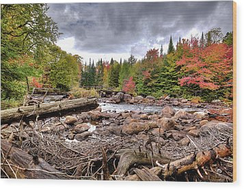 Wood Print featuring the photograph River Debris At Indian Rapids by David Patterson