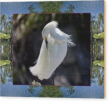 Wood Print featuring the photograph River Egret by Bell And Todd