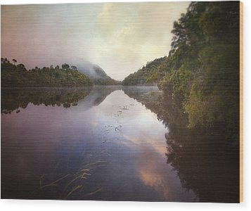 Wood Print featuring the photograph River Fire  by Amy Weiss