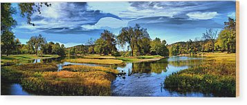 Wood Print featuring the photograph River Fork Pano by Rick Friedle