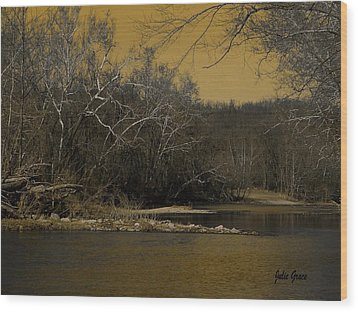 River Glow Wood Print by Julie Grace