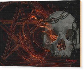 River Hell Wood Print by Jean Gugliuzza