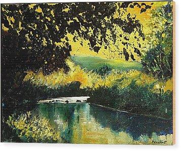 River Houille  Wood Print by Pol Ledent