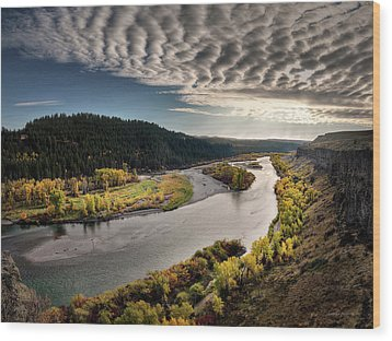 River Light Wood Print by Leland D Howard