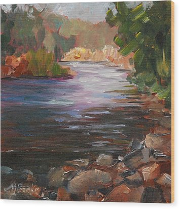River Light Wood Print