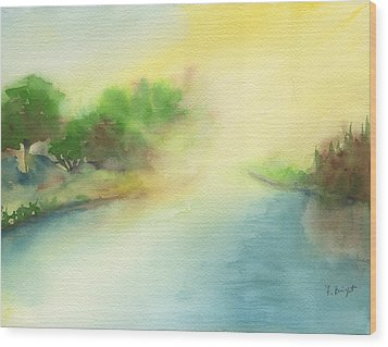 River Morning Wood Print