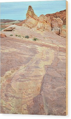 Wood Print featuring the photograph River Of Color In Valley Of Fire by Ray Mathis