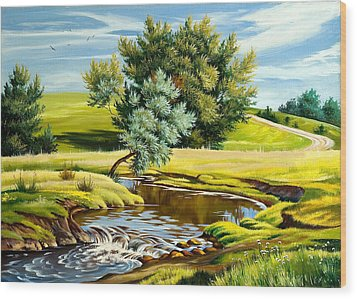 River Of Life Wood Print by Karen Showell