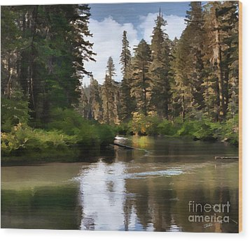 Wood Print featuring the painting Millers Creek Painterly by Peter Piatt