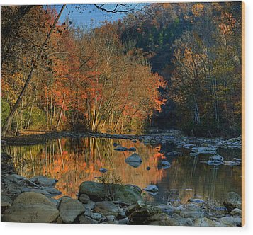 Wood Print featuring the photograph River Reflection Buffalo National River At Ponca by Michael Dougherty