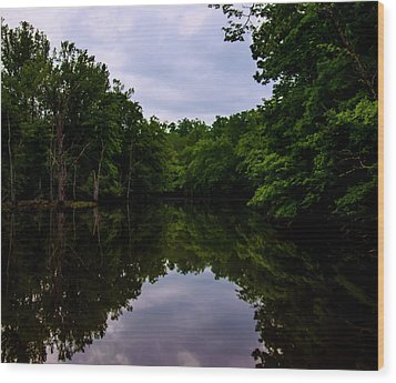 Wood Print featuring the digital art River Reflections by Chris Flees