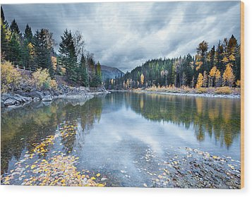 Wood Print featuring the photograph River Reflections by Fran Riley