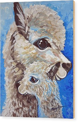 River Ridge Alpaca Wood Print by Patty Sjolin