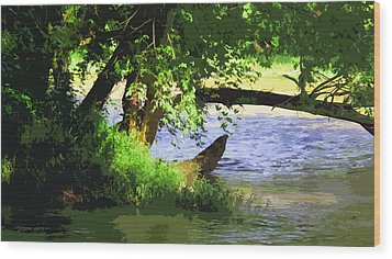 River Ripple Voices Wood Print by Charlie Spear