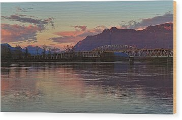 Fraser River, British Columbia Wood Print by Heather Vopni
