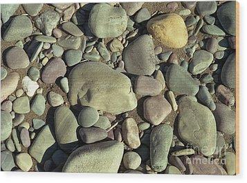 River Rock Wood Print