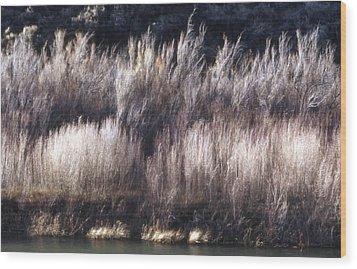 River Sage Wood Print by Lynard Stroud