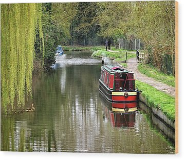Wood Print featuring the photograph River Stort In April by Gill Billington