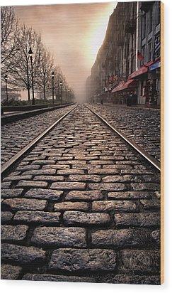 River Street Railway Wood Print