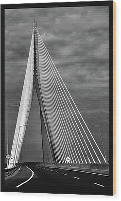 Wood Print featuring the photograph River Suir Bridge. by Terence Davis