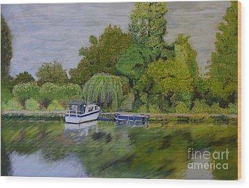 River Thames Hampton Wood Print