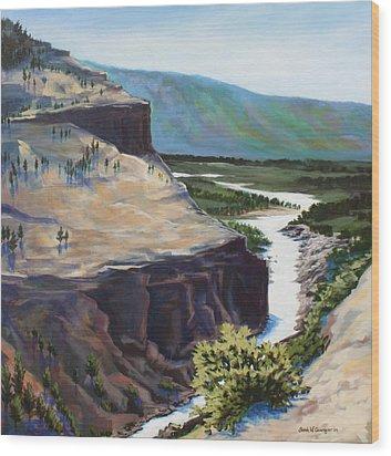 River Through The Canyon Wood Print