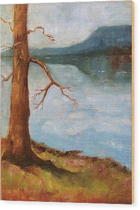 View Of Nebo Wood Print