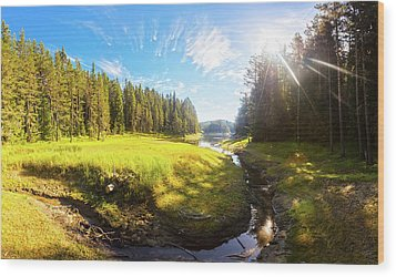 River Valley Wood Print by Evgeni Dinev