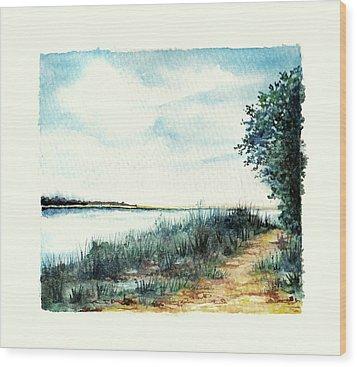 River Walk Wood Print by Heidi Kriel