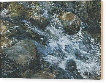 River Water Wood Print by Nadi Spencer