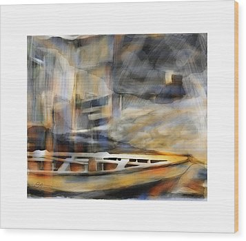 Riverboat Wood Print by Bob Salo