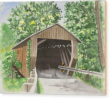 Riverdale Road Bridge Wood Print