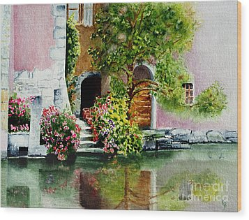 Riverfront Property Wood Print by Karen Fleschler