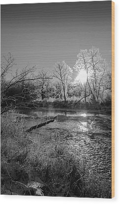 Rivers Edge Wood Print by Annette Berglund