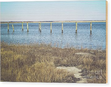 Wood Print featuring the photograph River's Edge by Colleen Kammerer