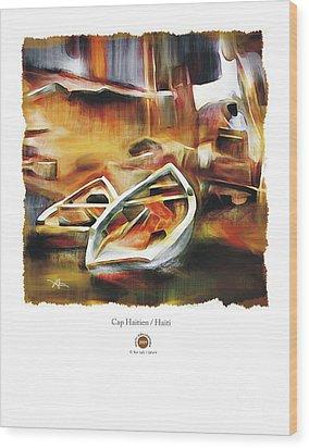 Riverside Wood Print by Bob Salo