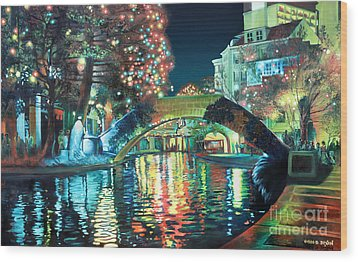 Riverwalk Wood Print by Baron Dixon