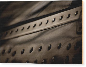 Wood Print featuring the photograph Rivets by Paul Job
