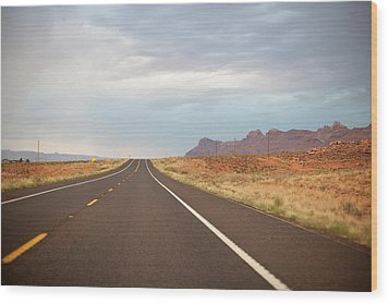 Road Wood Print by Elena Fantini