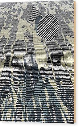Road Wood Print by Haruo Obana