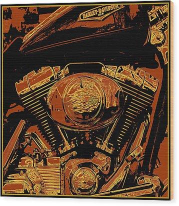 Road King Wood Print by Gary Grayson