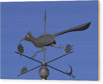 Wood Print featuring the photograph Road Runner Weather Vane by Joan Hartenstein
